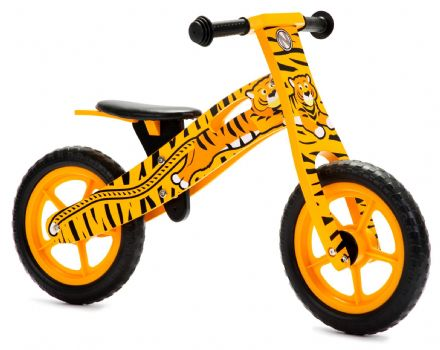 NIC865 Tiger Wooden Balance Bike *OUT OF STOCK*